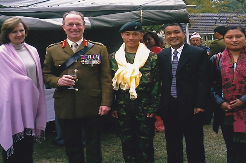 Bhai and Mingma with British Army General